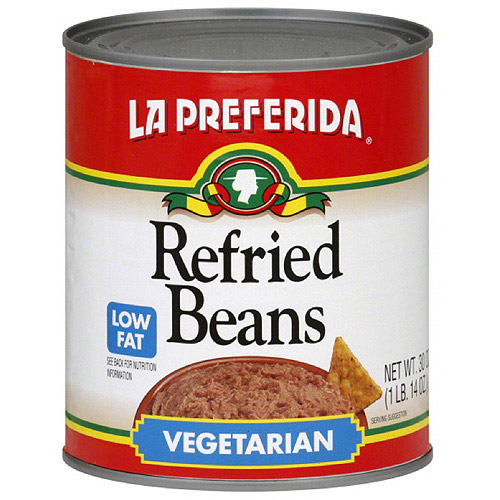 La Preferida Vegetarian Refried Beans, 30 oz (Pack of 12)