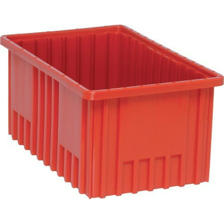 "3 Pack of 22 1/2"" Deep x 17 1/2"" Wide x 8"" High Red Dividable Grid Containers"