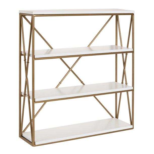 Kate and Laurel - Ascencio 4-Layer Modern Luxe Wooden Wall Shelves