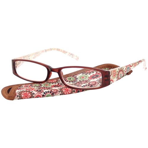 Foster Grant Women's Plastic Reading Glasses, Gwen Brown
