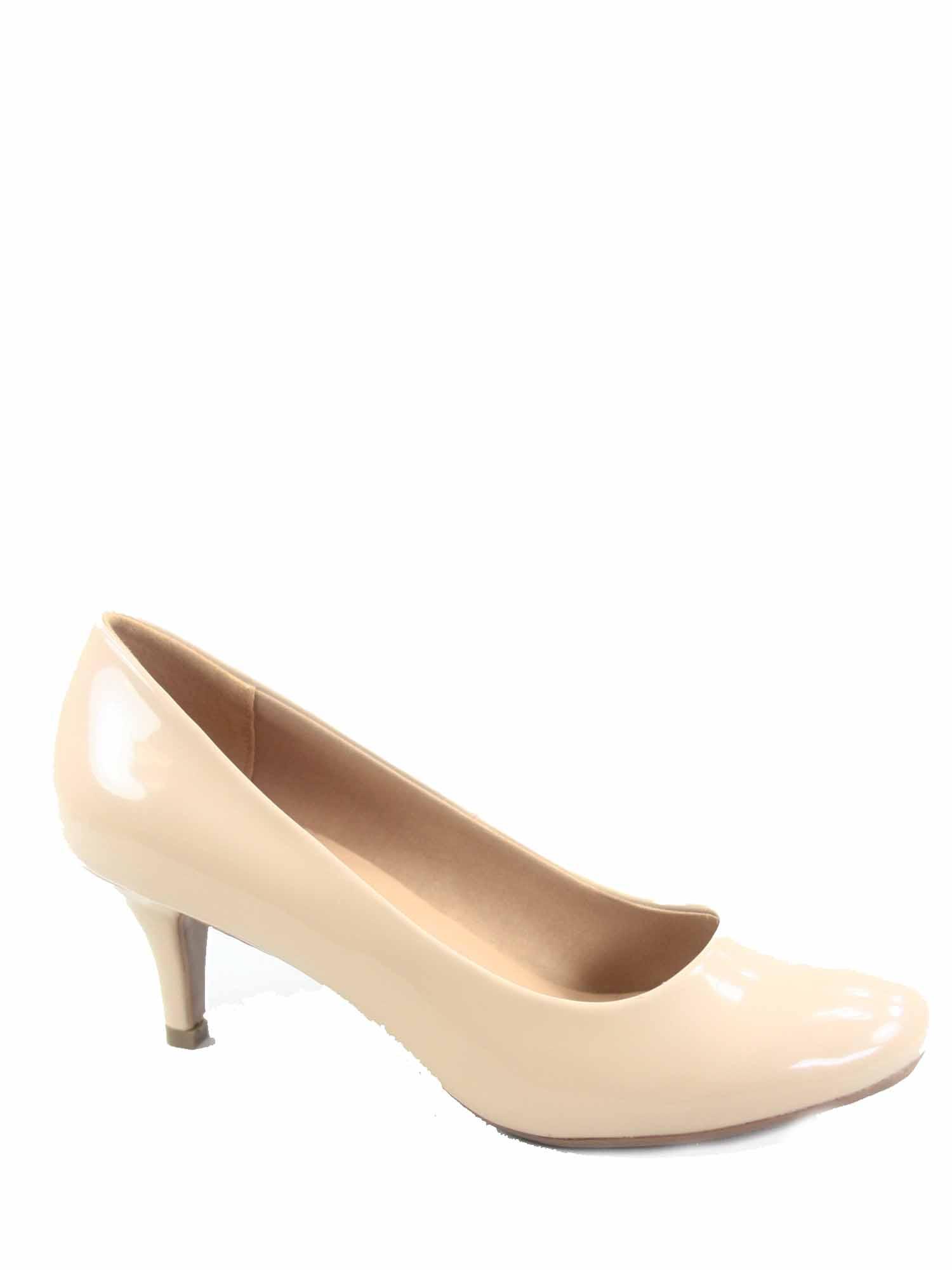 Debbie-32 Women's Fashion Round Toe Low Heel Slip On Pump Dress Shoes