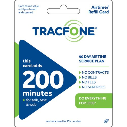 TracFone 200-Minute 90-Day Service Plan Prepaid Phone Card