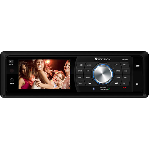 """XO Vision X01918BT 3"""" Widescreen DVD Receiver with Bluetooth"""