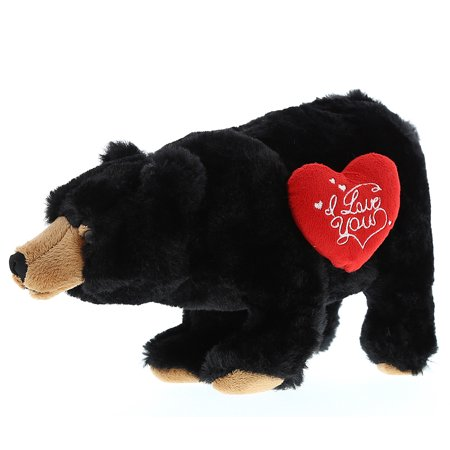 - Super Soft Plush Dollibu Wild Small Black Bear I Love You Valentines Plush
