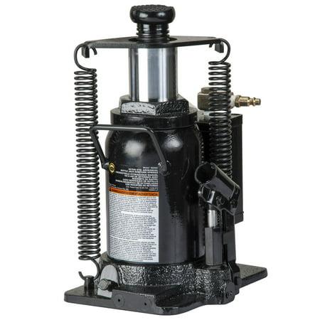 Omega 18206C Black Hydraulic Bottle Jack with Return Springs, 20 Ton Capacity ()