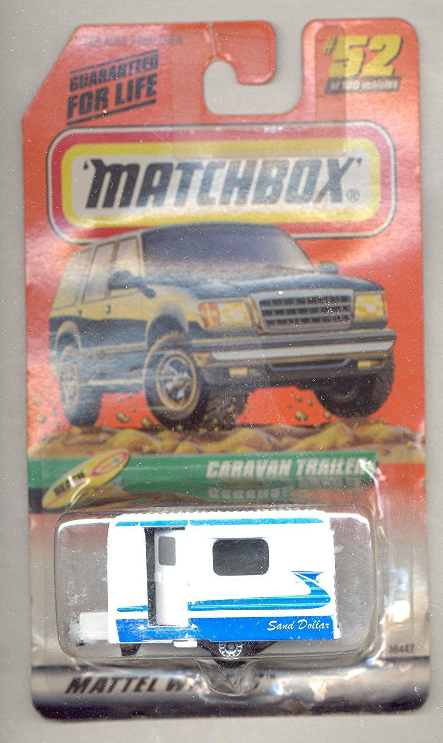 1999-52 100 Series 11 Beach Caravan Trailer 1:64 Scale, 1:64 Scale By Matchbox by