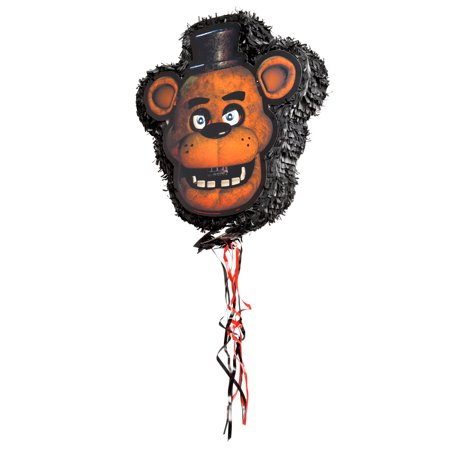 Freddy Fazbear Five Nights at Freddy's Pinata, Pull String, 18 x 17 in, 1ct - Winter Wonderland Pinata