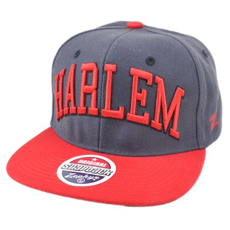 Zephyr Harlem City Super Star Adjustable Snap Back Two Tone Gray Red Hat Cap - Party City In Harlem