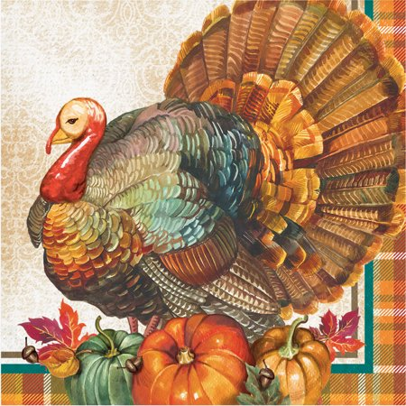 Traditional Thanksgiving Napkins, 48 count](Thanksgiving Party Supplies)