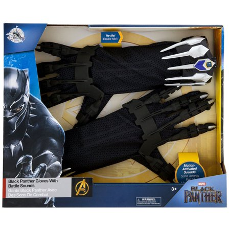 Marvel Black Panther Gloves with Battle Sounds Roleplay Set