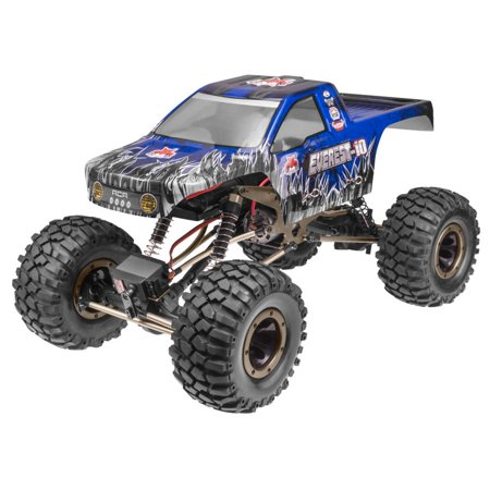 Redcat Racing Everest 10 1:10 Scale Rock Crawler Electric Brushed RC Truck, Blue 10 Scale Trucks