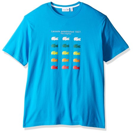 Lacoste Men Multi Color Croc Graphic T-Shirt