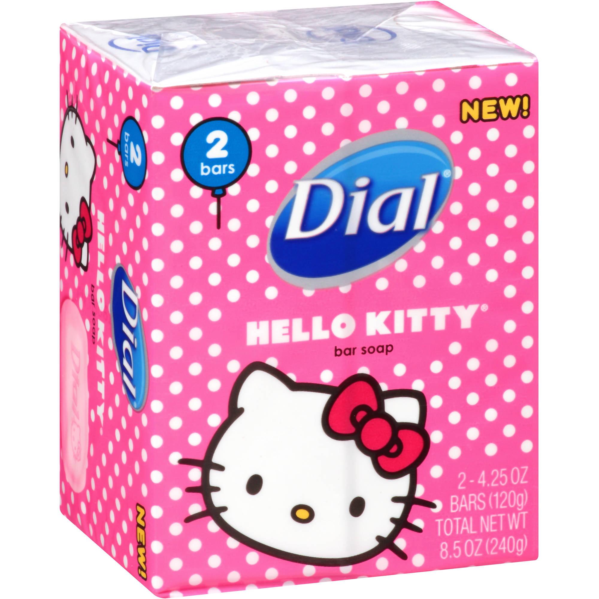 Dial Hello Kitty Soap, 4.25 oz, 2ct