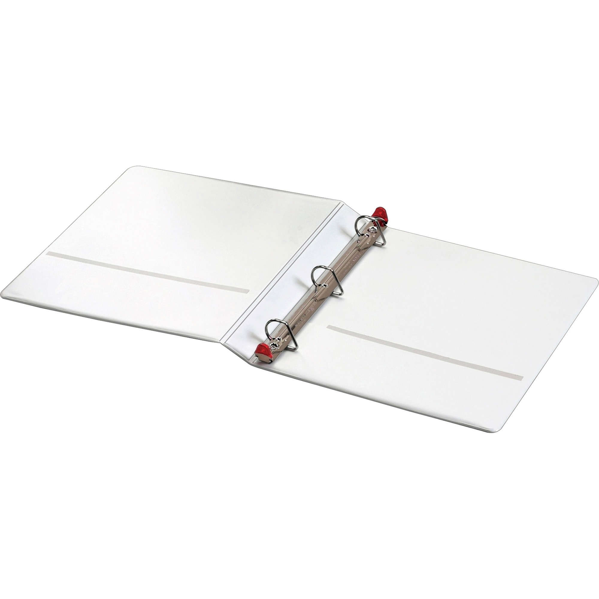 """Cardinal Treated Binder ClearVue Locking Slant-D Ring Binder, 1"""" Cap, 11 x 8 1 2, White by TOPS Products"""