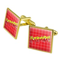 WWE Hot Ronda Rousey Square Cufflink Set - Silver or Gold