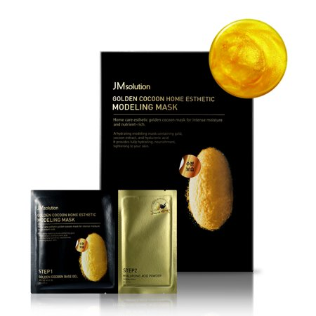 JM solution Golden Cocoon Home Aesthetic Modeling Face Mask Step1 & Step2, 5 count