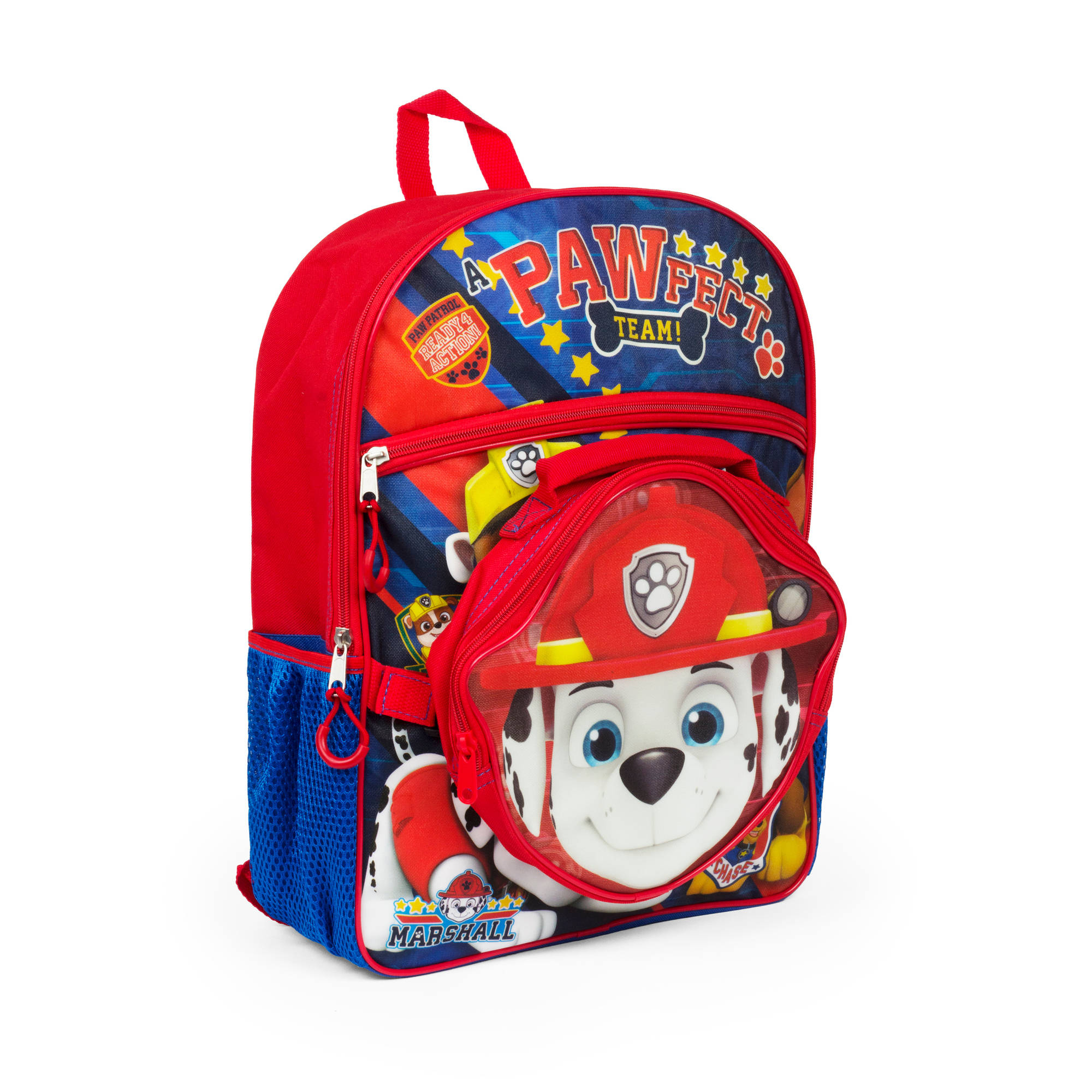 "16"" Paw Patrol Backpack with Lunch kit"