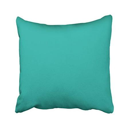 RYLABLUE Decorative Decors Ocean Breeze Aqua Teal Blue Solid Color Backround Throw Pillow Case Cushion Cover Home Sofa Decorative Cushion Cover Home Sofa Decorative Size 20x20 inches Two Side - image 1 de 1
