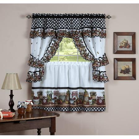 Mason Jar Kitchen Curtain 36