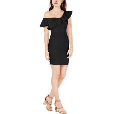 Guess Womens Farrah Ruffled Bodycon Cocktail Dress