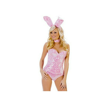 Sequin Cat Suit (Starline, LLC. Pink Sequin Bunny Costume T1024)
