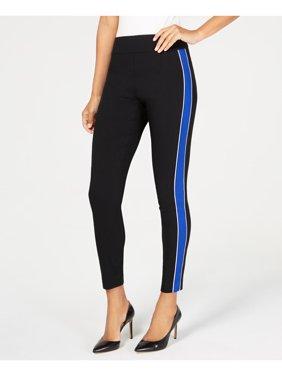 INC Womens Black Side Stripe Skinny Pants  Size: 4