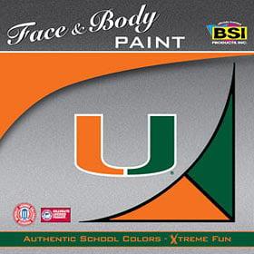 Miami Hurricanes Face Paint