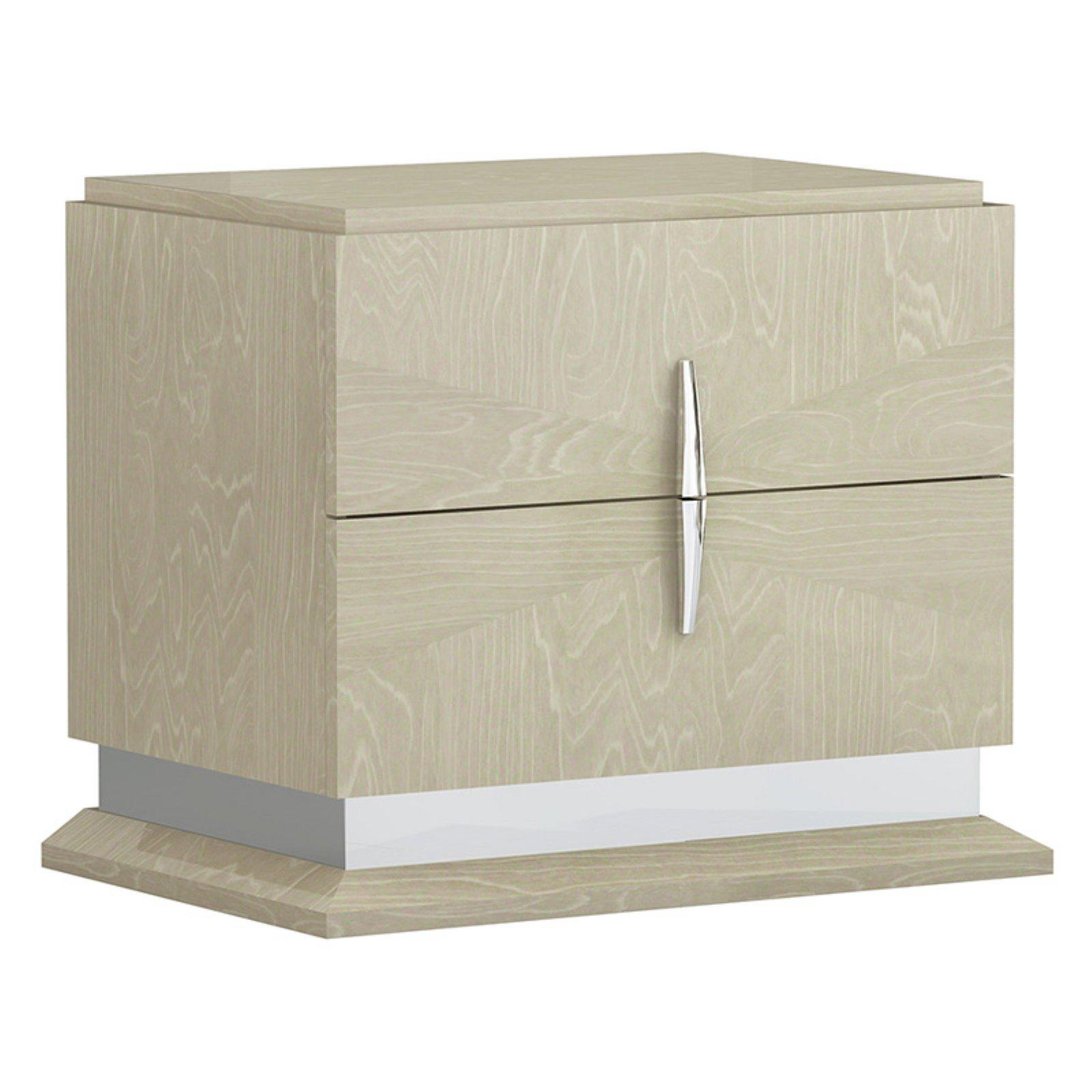 American Eagle Furniture Ventura Light Walnut 2 Drawer Nightstand
