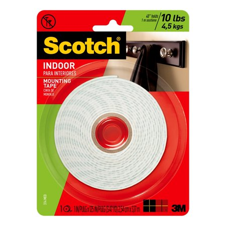 3M 314 Heavy-Duty Foam Mounting Tape, 1