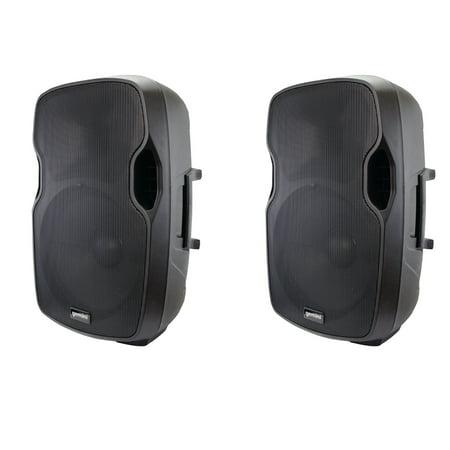 Portable Active Loudspeaker (2 Pack Gemini AS-15P 15