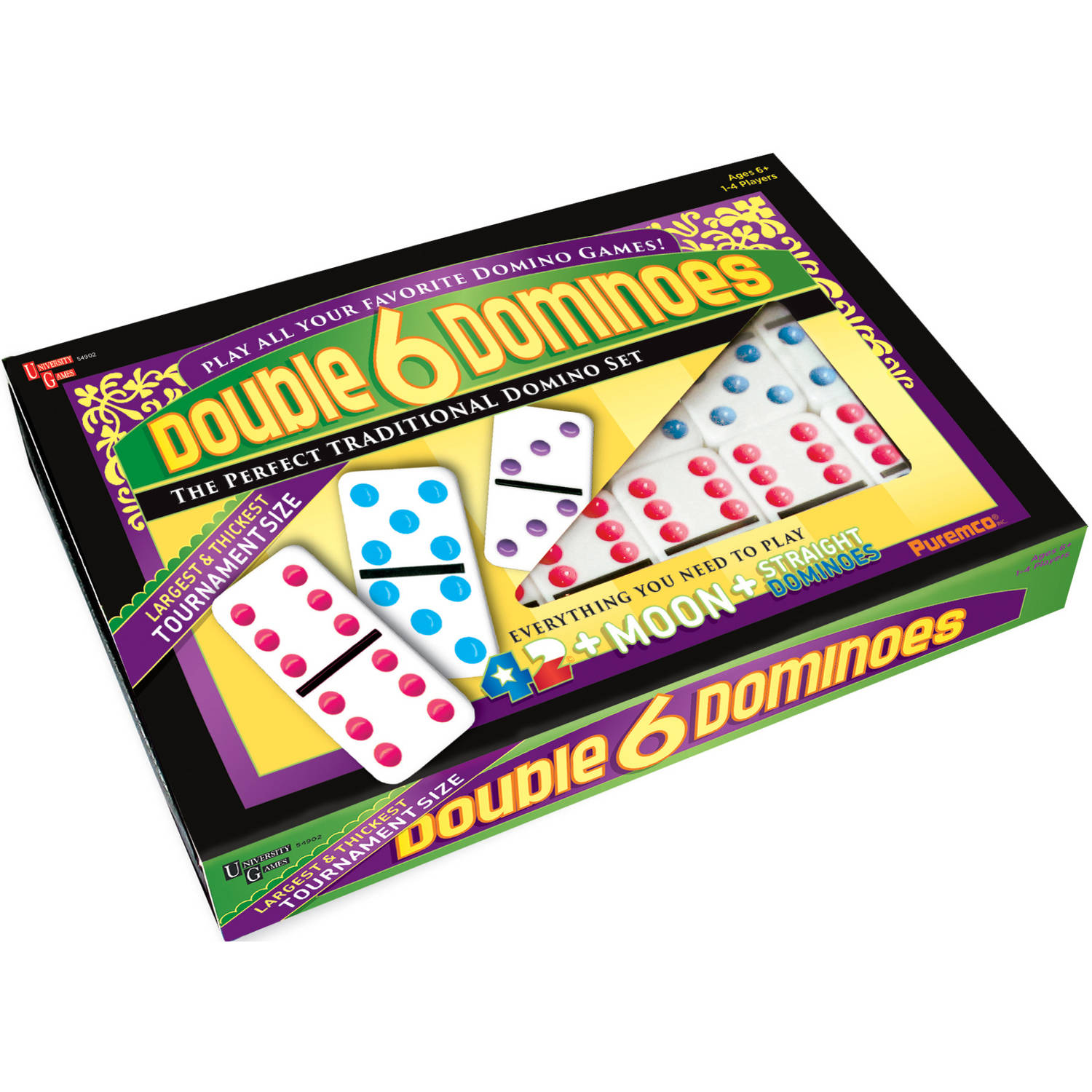Double 6 Color Dot Dominoes, Tournament Size