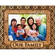 Giftworks Plus FAM5024 Our Family - Ornate, Alder Wood Frame, 4 x 6 In