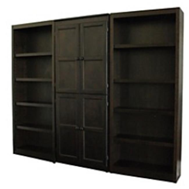 Concepts In Wood WKT3072-E 3-Piece Wall and Storage System, Espresso Finish 15 Shelves