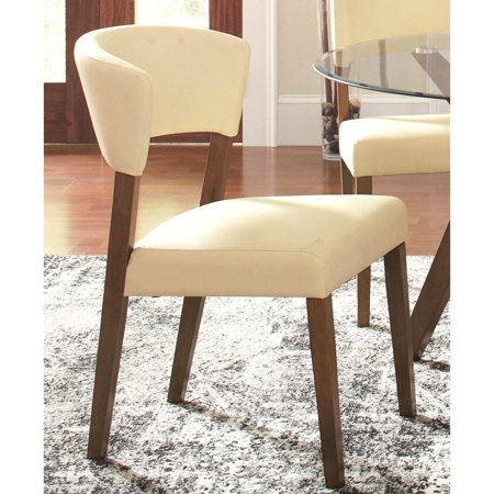 A Line Furniture Venetian Contemporary Cream Upholstered Dining Chairs (Set of 2) ()