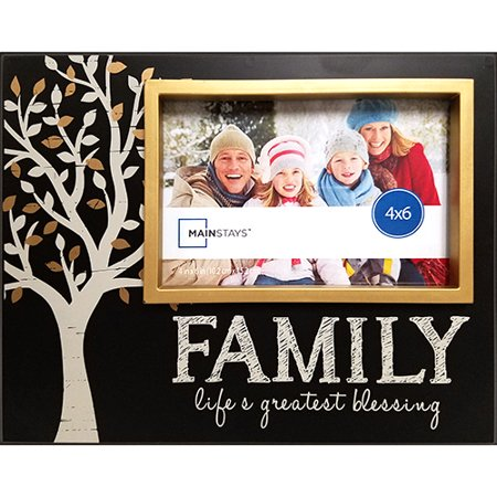 Mainstays 6x4 Family Tree Offcenter Photo Frame Walmartcom