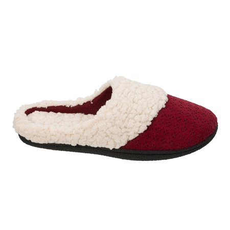 (DF by Dearfoams Women's Perforated Microsuede Clog Slippers)
