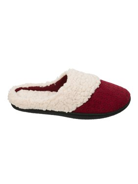 DF by Dearfoams Women's Perforated Microsuede Clog Slippers
