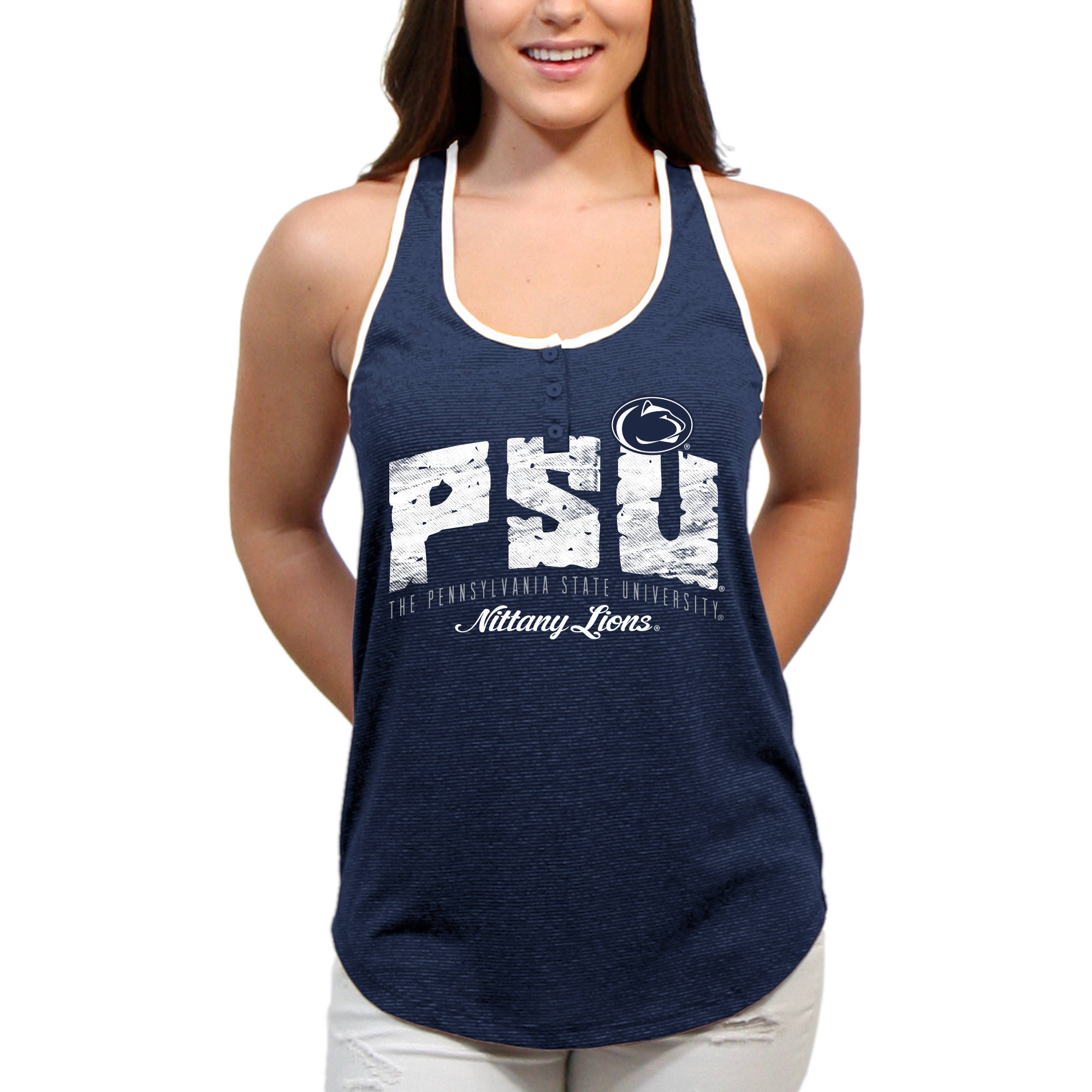 Penn State Nittany Lions Choppy Arch Women'S/Juniors Team Tank Top
