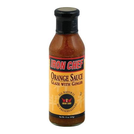 Glazed Ginger - Iron Chef Sauce And Glaze - Orange Ginger - Pack of 6 - 15 Oz.