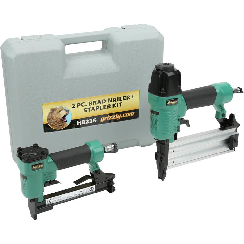 Grizzly H8236 Brad Nailer   Stapler Kit by