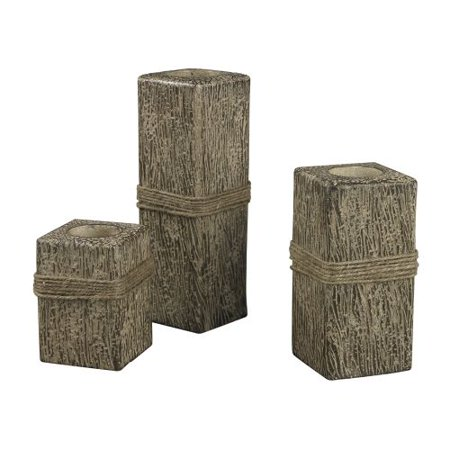 Sterling Industries 93-10103 Set of 3 Rope Wrapped Candle Holders