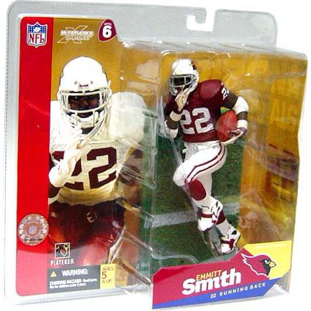 McFarlane NFL Sports Picks Series 6 Emmitt Smith Action Figure [Red Jersey White Gloves]