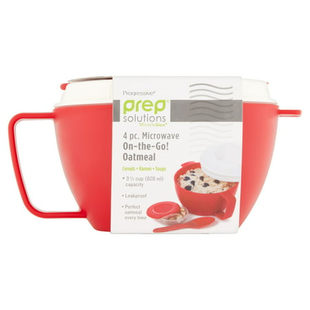 Progressive Prep Solutions Miracleware Microwave On-the-Go Oatmeal, 4
