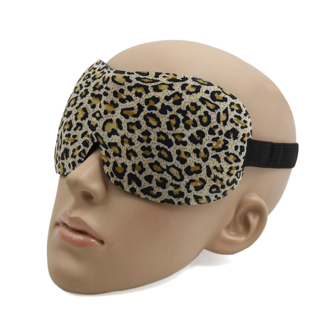 Travel 3D Eye Sleep Mask Padded Shade Cover Rest Relax Blindfold Leopard Print