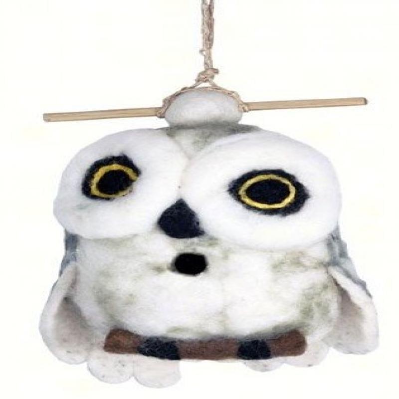 Wild Woolies Felt Birdhouse Snowy Owl by Wild Woolies