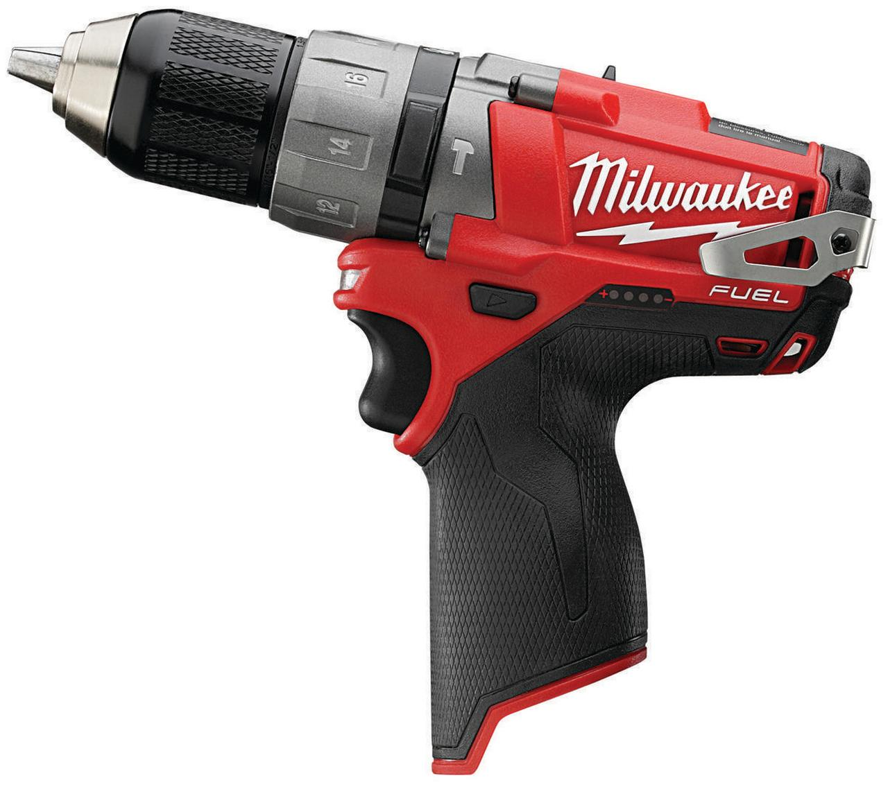 Milwaukee M12 Cordless Hammer Drill Driver, 12 V, Lithium-Ion, 1 2 in Keyless Chuck by Milwaukee