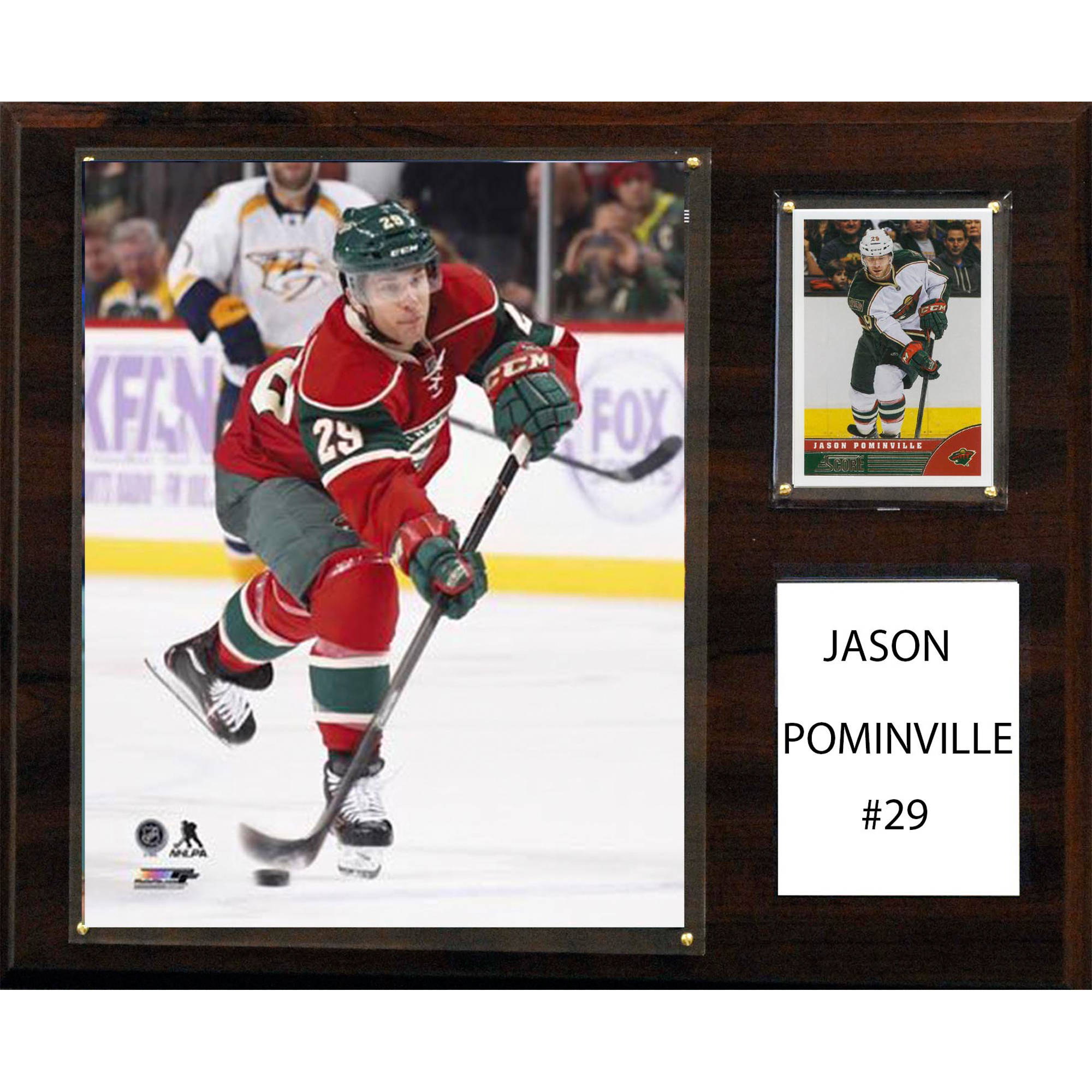 C&I Collectables NHL 12x15 Jason Pominville Minnesota Wild Player Plaque