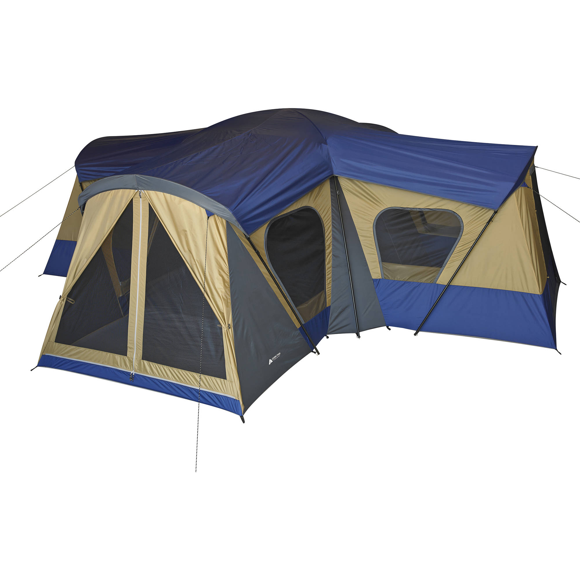 Ozark Trail 14 Person 4 Room Base Camp Tent With 4 Entrances