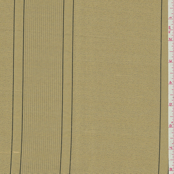 Metallic Gold Stripe Silk Drapery