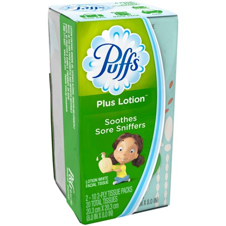 Puffs® Plus Lotion™ White Facial Tissues 2-10 ct Boxes